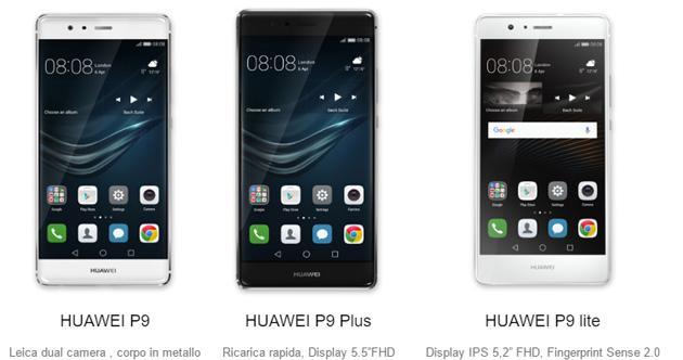Confronto huawei p9 vs p9 lite vs p9 plus for Photo ecran huawei p9 lite