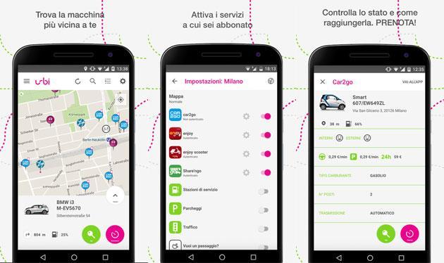 Urbi aggrega i servizi di trasporto condiviso