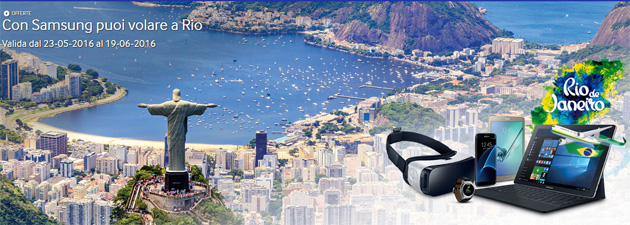 Samsung regala Rio 2016 acquistando Smartphone e Tablet Galaxy