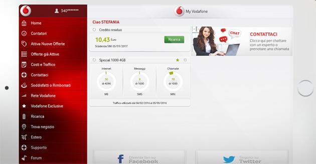 Vodafone, 190 interattivo su Android con app My Vodafone