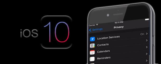 Apple iOS 10 introduce la modalita' Dark