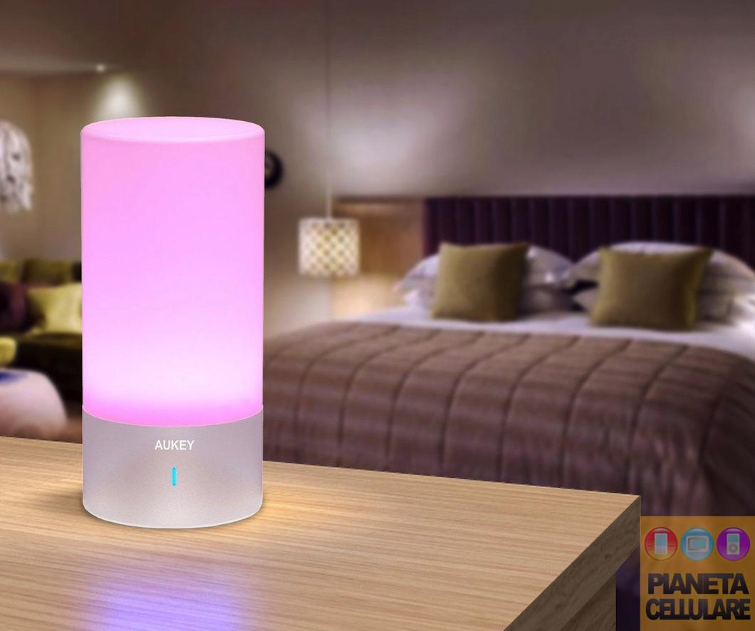 Recensione lampada LED Touch multicolore Aukey