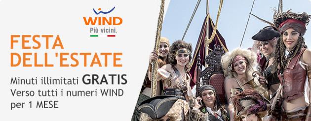 Wind, Promozioni Estate 2016 tra Minuti e Giga gratis
