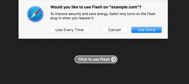 Safari 10 in macOS Sierra disabilita Adobe Flash per impostazione predefinita