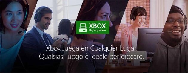 Xbox Play Anywhere: su PC Windows 10 e Xbox i giochi si pagano una sola volta
