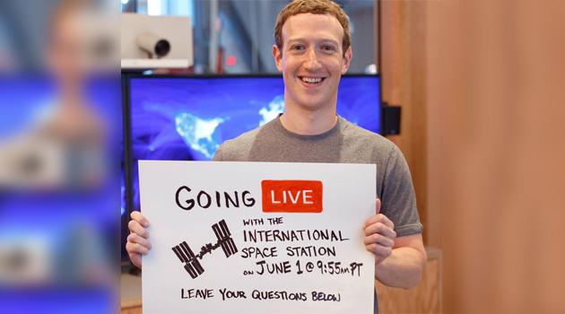 Facebook, in diretta dallo Spazio con Mark Zuckerberg