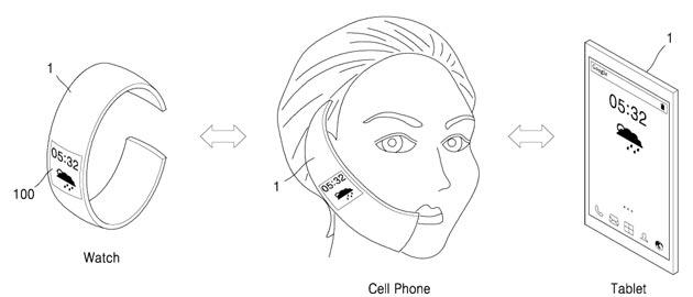 Samsung brevetta device 3in1 con display OLED estensibile