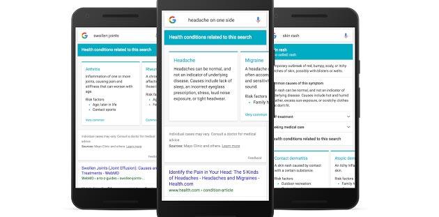 Google migliora la Ricerca di Sintomi e Malattie