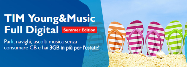TIM Young e Music Full Digital Summer 2016 Edition - Ultimo mese