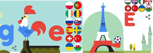 Euro 2016 nel doodle di Google