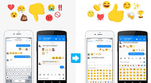 Facebook Messenger ha 1500 emoji, uguali su ogni dispositivo