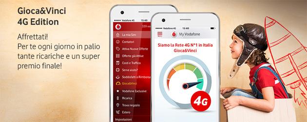Vodafone Gioca e Vinci 4G edition: ogni giorno in palio ricariche e premio finale Samsung Galaxy S7