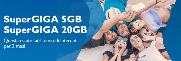 TIM SuperGiga Estate 2016: 5 o 20 GB di Internet 4G per 3 mesi