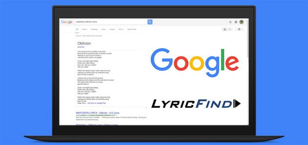 Google mostra testi canzoni nelle ricerche e Play Musica