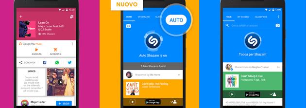 Shazam con Auto sempre in ascolto su Android e iOS