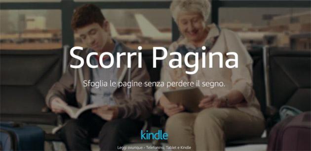Amazon introduce Scorri Pagina in Kindle