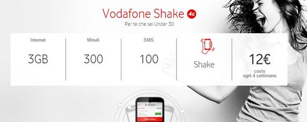 Vodafone Shake: nuovo piano per Under 30 e opzione per aggiungere Internet, Minuti, SMS
