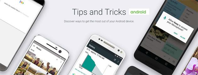 Trucchi per Android, Google apre minisito dedicato