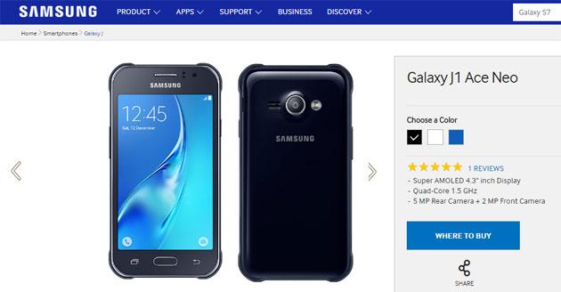 Samsung lancia Galaxy J1 Ace Neo