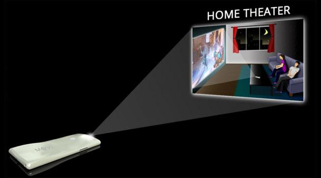 MOVI, smartphone con proiettore incorporato