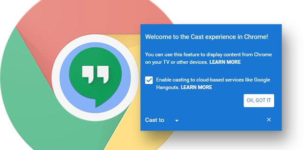 Google Cast integrato nel browser Chrome
