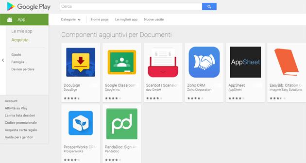 Google lancia i Componenti aggiuntivi per Documenti