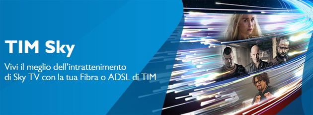 Foto TIM SKY, la TV di Sky via Fibra o ADSL TIM