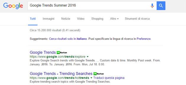 Google Summer Trends 2016, le parole piu' cercate questa Estate