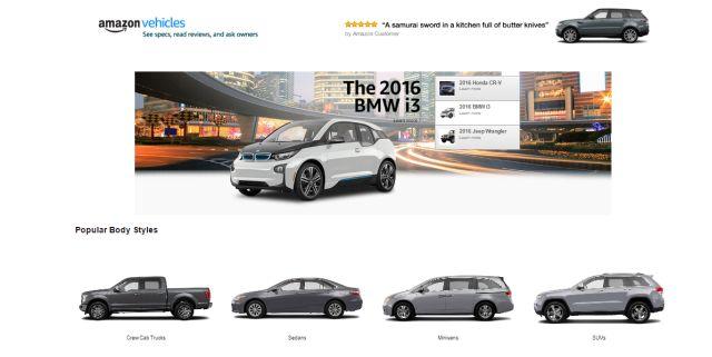 Amazon Vehicles: Accessori, Componenti ma anche Drive Now