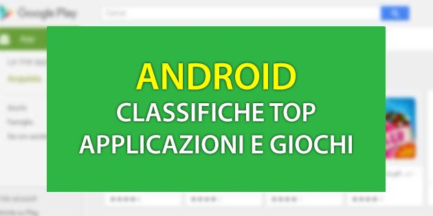 Android: Classifiche Top App e Giochi a Aprile 2019