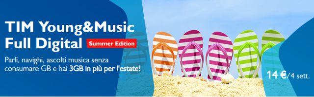 TIM Young e Music Full Digital, prezzo ridotto a 12 euro ogni 4 settimane