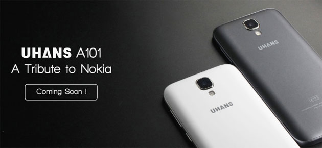 Uhans A101, telefono Android tributo al bestseller Nokia 1100