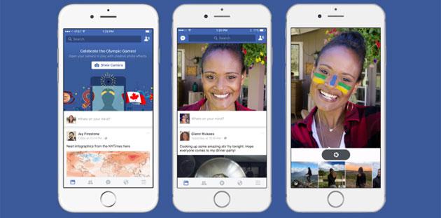 Facebook testa Camera Feed con MSQRD, filtri per selfie