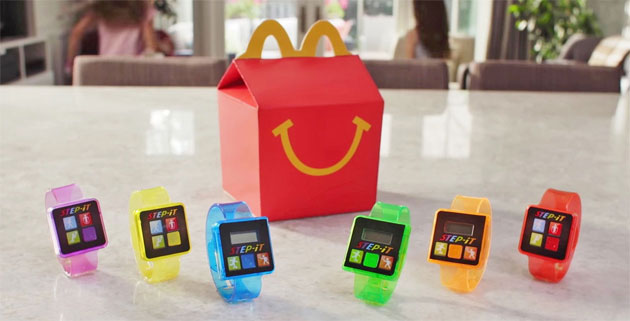 McDonald's ritira il contapassi regalato con Happy Meal