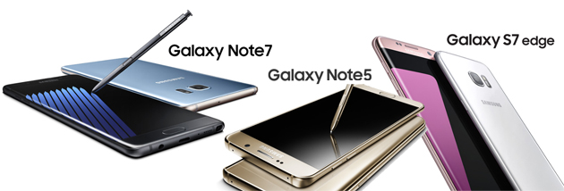 Confronto Samsung Galaxy Note 7 vs Note 5 vs S7 Edge
