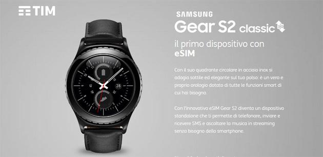 TIM lancia la eSIM in Italia con Samsung Gear S2 Classic 3G