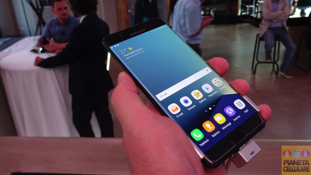 Samsung Galaxy Note 7, anteprima video e prime impressioni