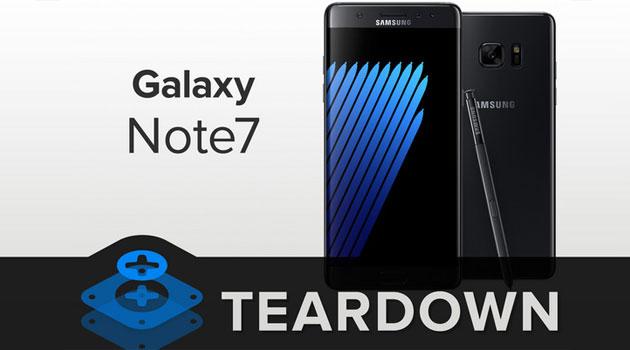 Galaxy Note 7 piu' facile da riparare rispetto a S7 per iFixit