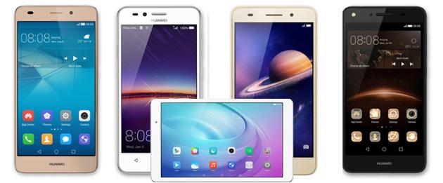 Huawei porta in Italia Y3II, Y5II, Y6II, GT3 e tablet MediaPad T2