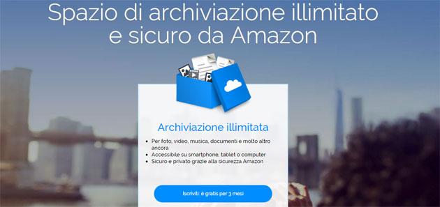 Amazon Drive, nuovo piano di archiviazione illimitata