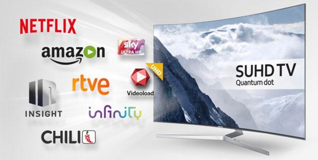 Samsung punta sui contenuti UHD HDR coi partner Sky, Netflix, Amazon, Chili, Infinity