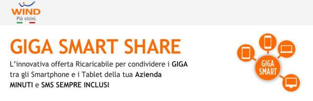 Wind Giga Smart Share: 100 Mega condivisi fino a 30 Sim