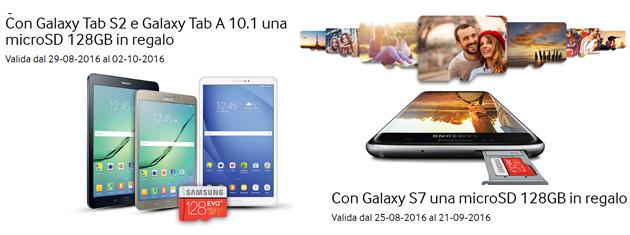 Samsung Galaxy S7, Tab S2, Tab A 10.1 regalano una microSD 128GB
