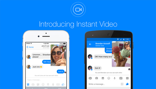 Facebook attiva Instant Video in Messenger