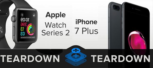 Apple iPhone 7 Plus e Watch Series 2 disassemblati: cosa si trova dentro
