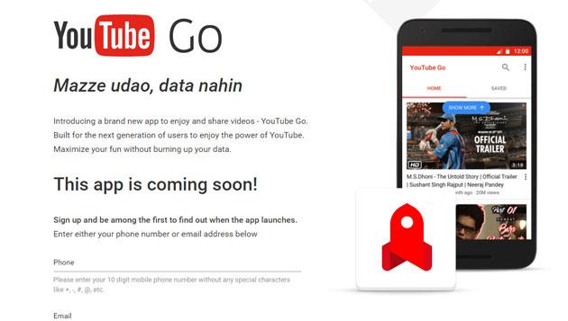 Google lancia YouTube Go, l'app per salvare i video offline su smartphone