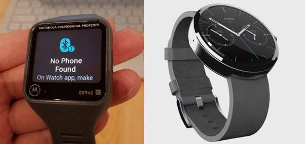 Motorola lavorava su uno smartwatch rettangolare