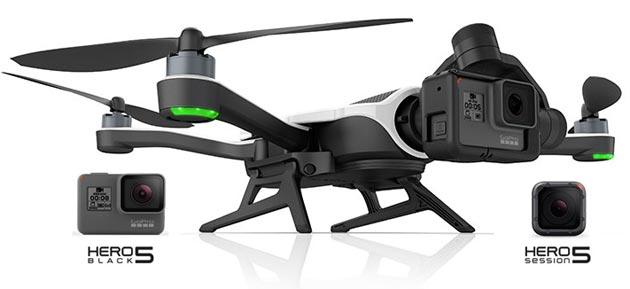 GoPro: drone Karma e videocamere Hero5, Hero5 Session ufficiali
