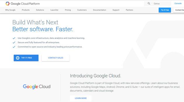 Google lancia Cloud e G Suite