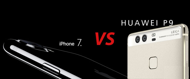 Confronto Huawei P9 vs Apple iPhone 7